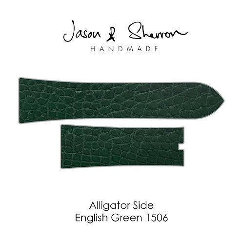 Alligator Side English Green 1506: Watch Strap Customisation