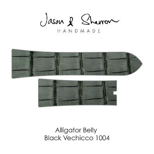 Alligator Belly Black Vechicco 1004: Watch Strap Customisation