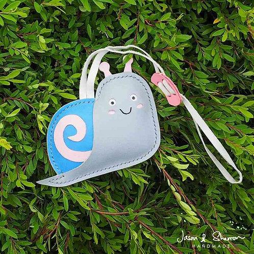 Snail: Leather Bag Charm