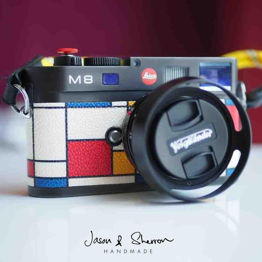 Leica M8 Black reskined with Calf De Sti