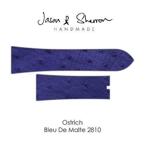 Ostrich Bleu De Malte 2810: Watch Strap Customisation