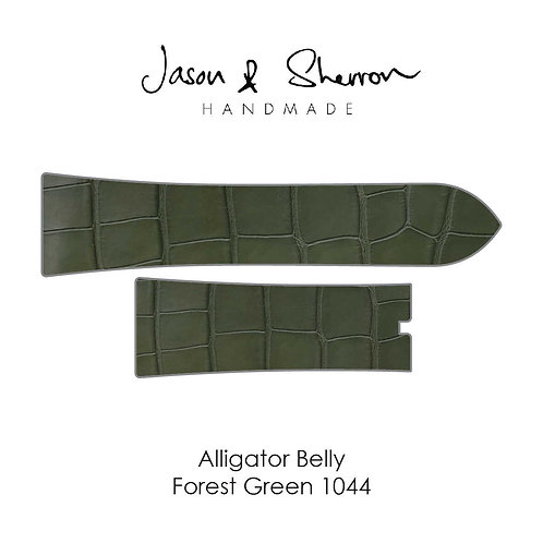Alligator Belly Forest Green 1044: Watch Strap Customisation