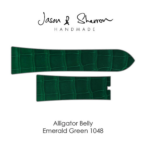Alligator Belly Emerald Green 1048: Watch Strap Customisation