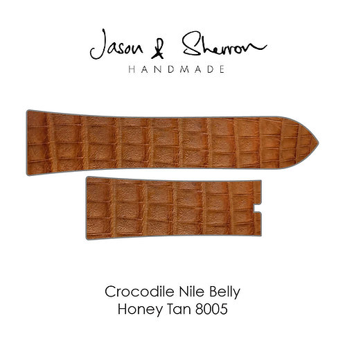 Crocodile Nile Belly Honey Tan 8005: Watch Strap Customisation