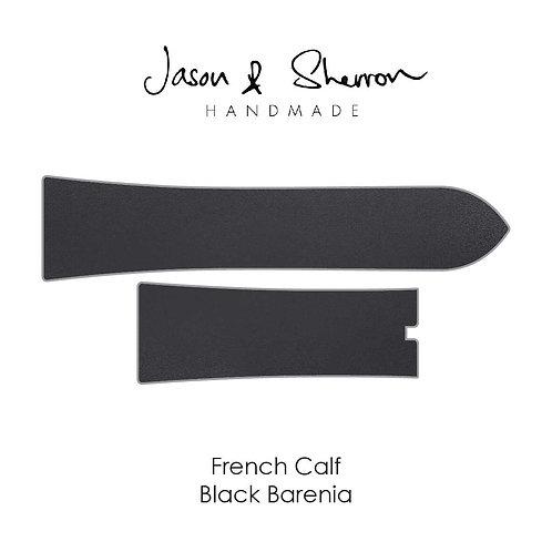 French Calf Black Barenia: Watch Strap Customisation