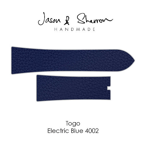 Togo Electric Blue 4002: Watch Strap Customisation