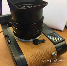 Leica M9 Black reskined with Epsom Gold