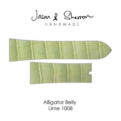 Alligator Belly Lime 1008: Watch Strap Customisation