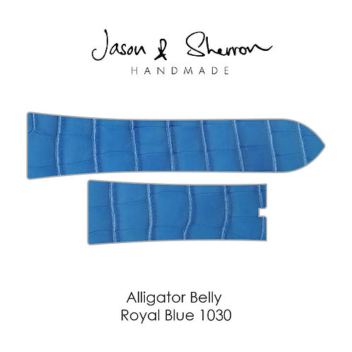 Alligator Belly Royal Blue 1030: Watch Strap Customisation