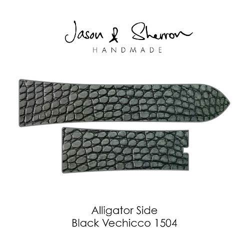 Alligator Side Black Vechicco 1504: Watch Strap Customisation