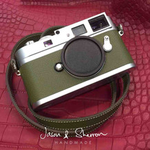 Leica M9P SIlver reskined with Epsom Oli