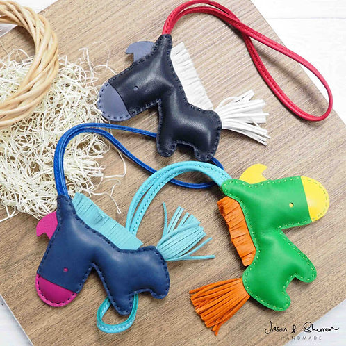 DIY Starter Kit/Ready Made: Leather Bag Charm Big Head Horse