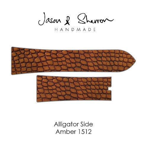 Alligator Side Amber 1512: Watch Strap Customisation