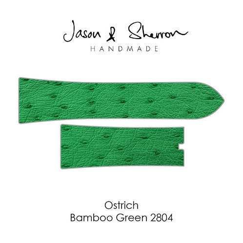 Ostrich Bamboo Green 2804: Watch Strap Customisation
