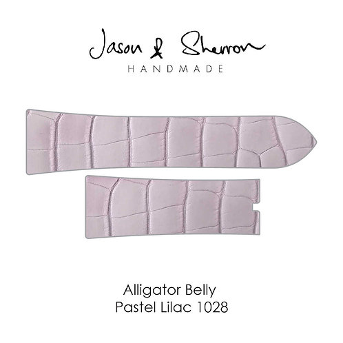 Alligator Belly Pastel Lilac 1028: Watch Strap Customisation
