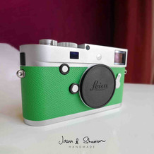 Leica M240 Silver reskined with Epsom Ba