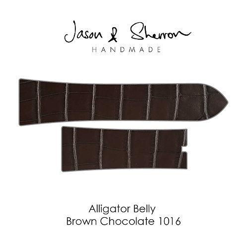 Alligator Belly Brown Chocolate 1016: Watch Strap Customisation