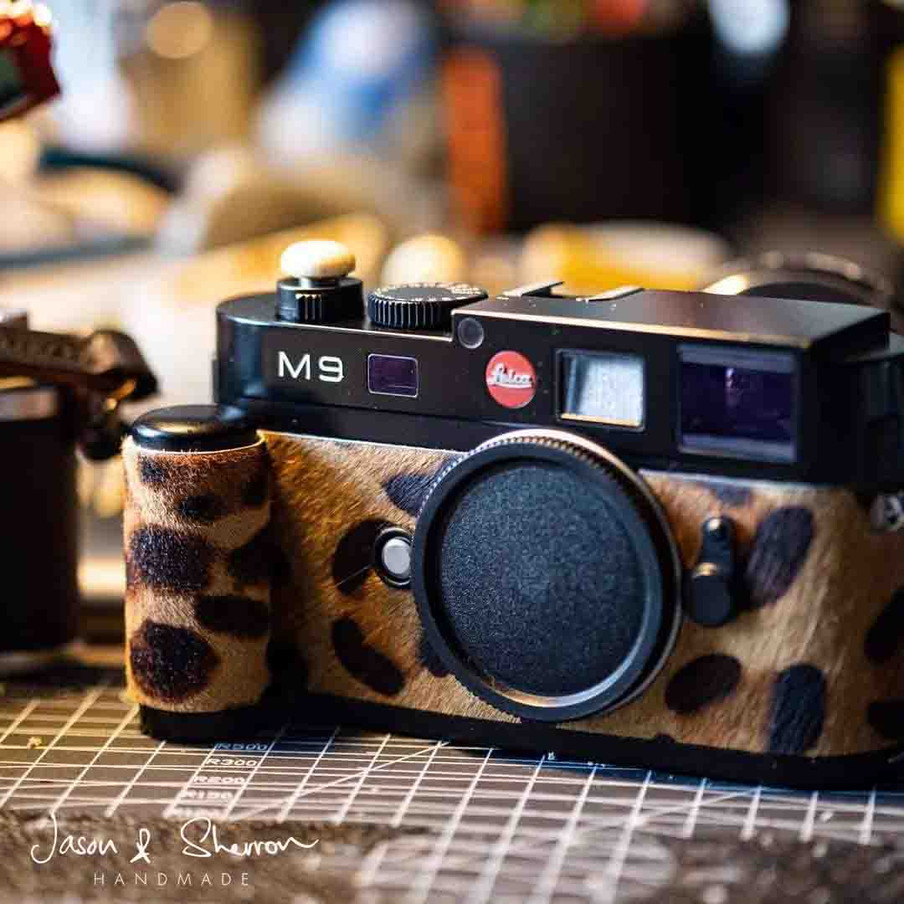 Leica M9 Black reskined with Pony Hair L