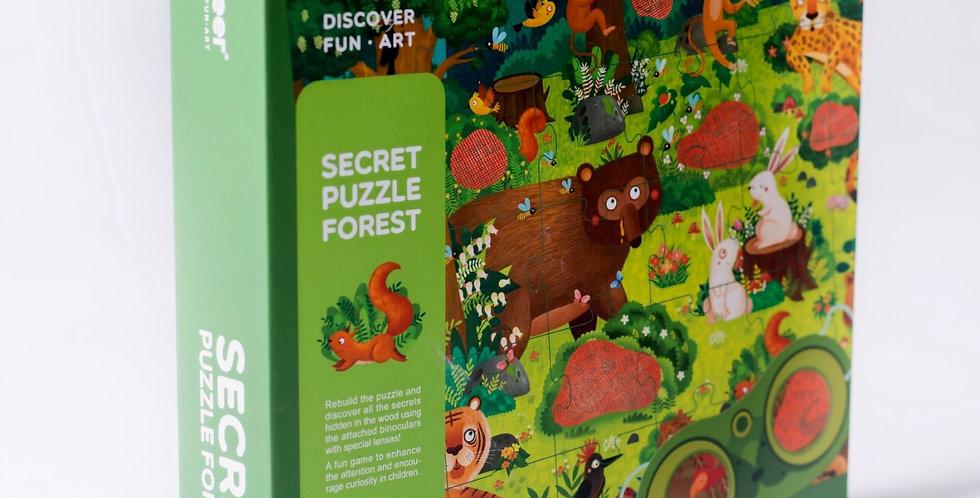 "Пазлы с загадкой ""Волшебный лес"""