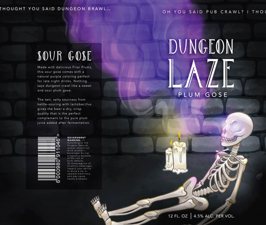 Dungeon Laze: Sour Gose Design