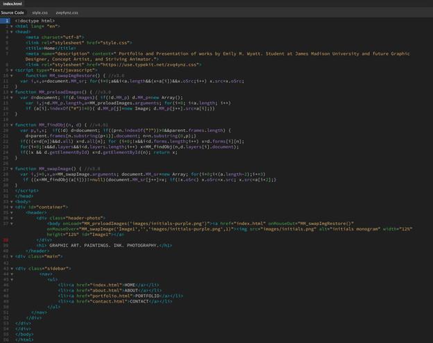 Portfolio Website Coding