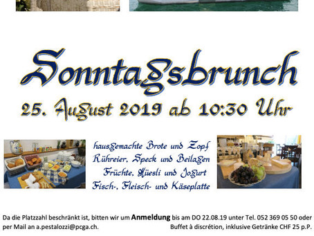 Sonntagsbrunch am 25. August 2019