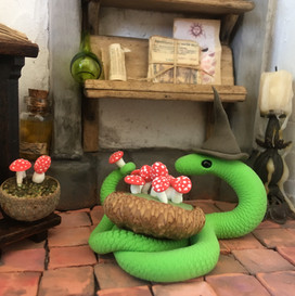 slang met paddestoelen