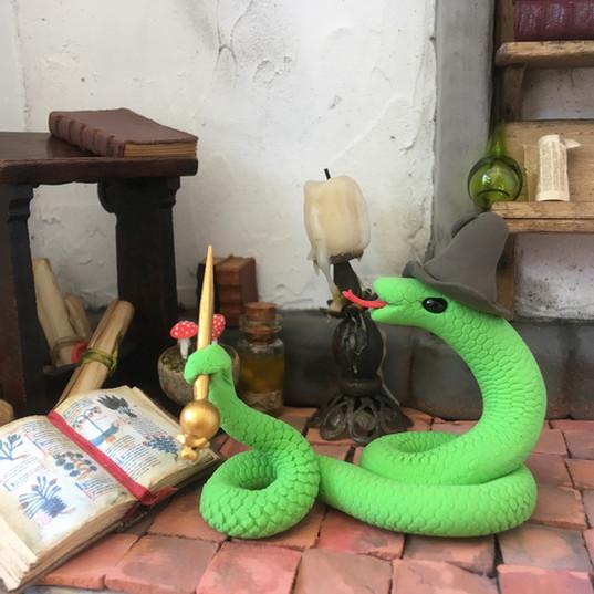 slang met toverstaf