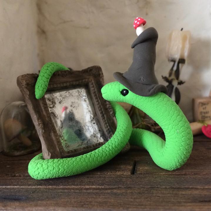 slang met spiegel (verkocht)
