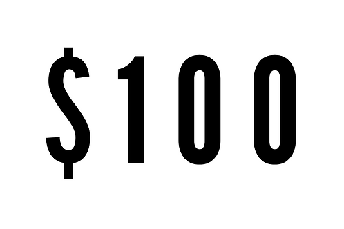 $100 One-Time Donation