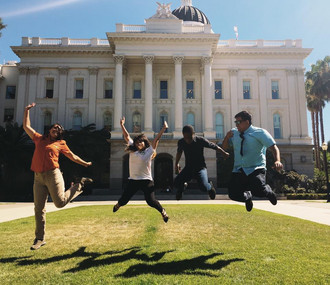 Outdoor Equity Advocates on a beautiful day in Sacramento
