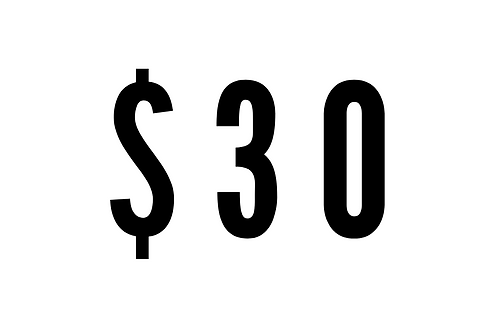$30 One-Time Donation