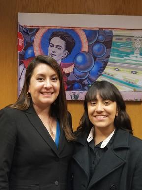 Excitement in Sacremento with Luz Rivas