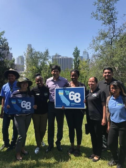 Community Nature Connection with Kevin De Leon at the Prop 68 Rally