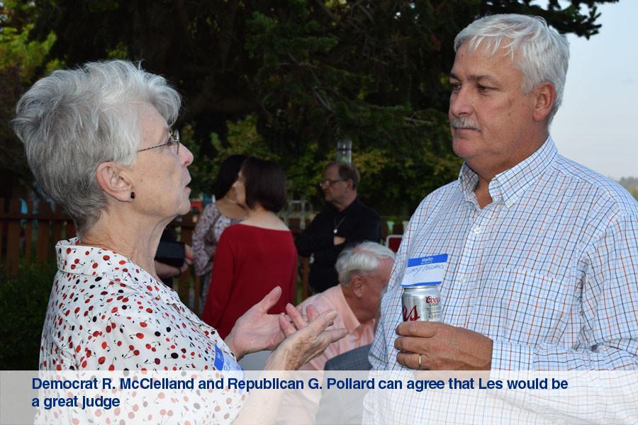 Democrat R. McClelland and Republican G.