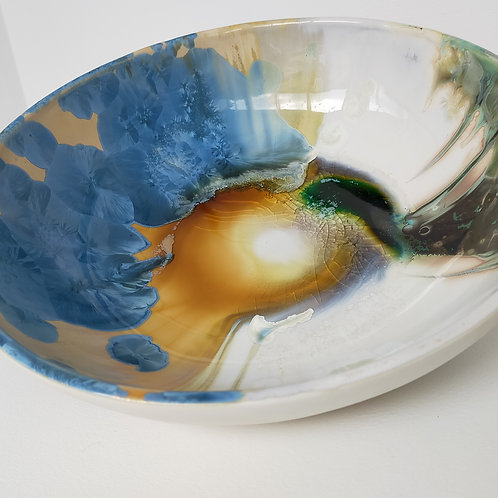Crystalline Glazed Porcelain Bowl