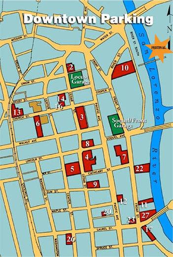 santa cruz parking map