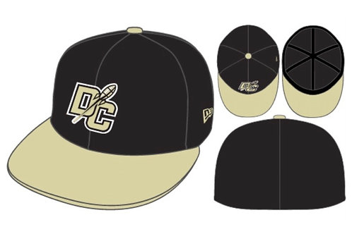 New Era Fitted Black & Vegas Gold Hat