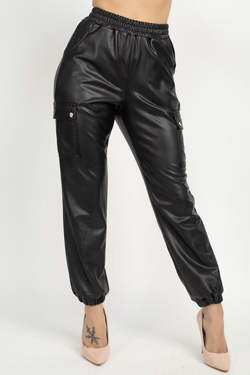 THE JADE LEATHER JOGGERS