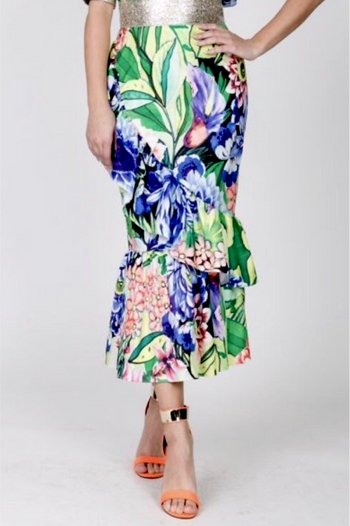 =THE FLIRTING WITH FLORAL SKIRT
