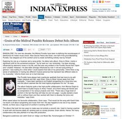 Indian Express Online Oct 2014