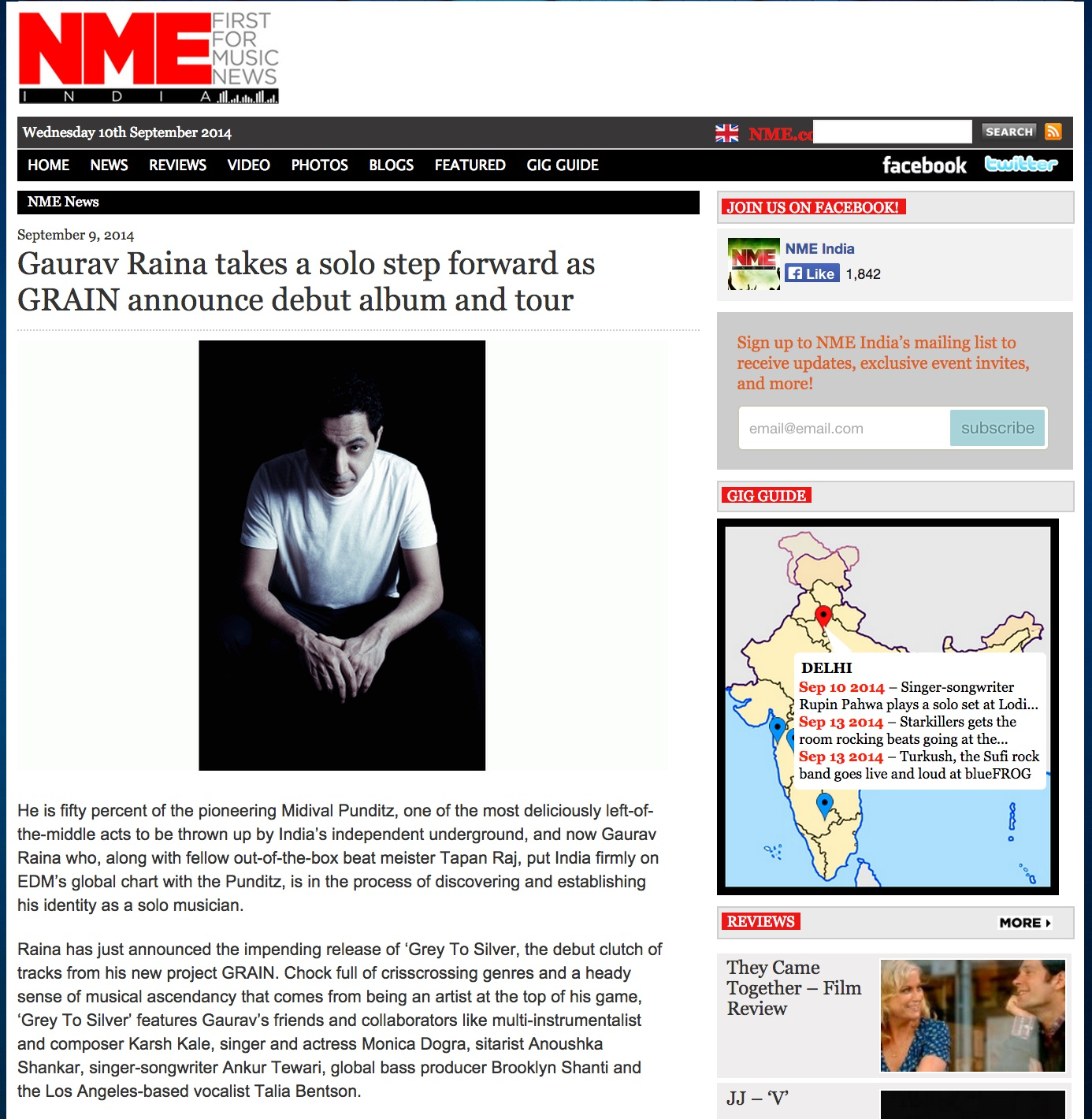 NME India (Sept. 2014)
