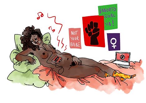 Vénus se masturbant