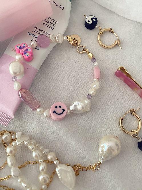 Summer Camp Bracelet Baby Pink