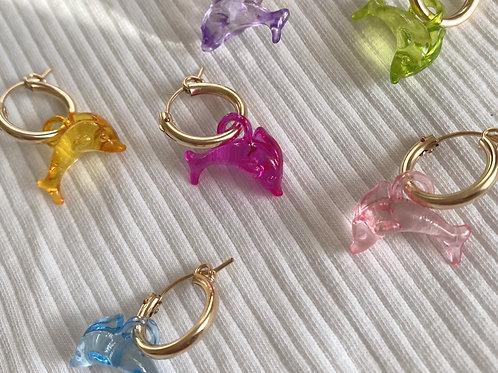 smiley dolphindelfinyin yang90iesschmuckjewelry dolphin pastel gold schmuck hoops horse cowboy cowgirl