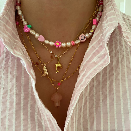 Summer Camp Necklace Baby Pink