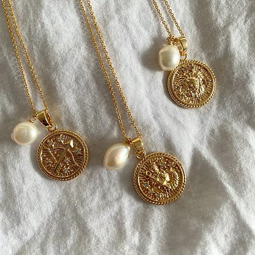 Zodiac Pearl Necklace