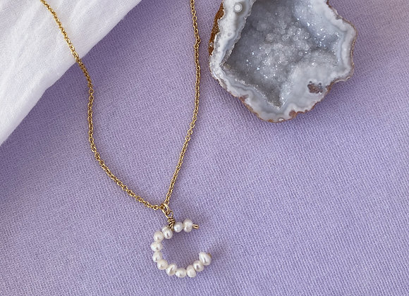 Baby Pearl Initial Necklace