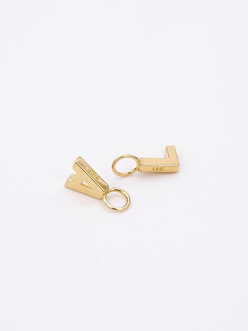 Letter Charm 14k Gold