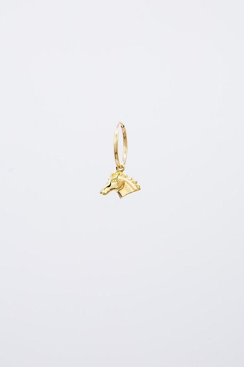Pony Hoop 14k Gold